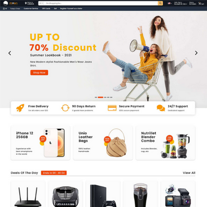 Moon Shopping ECommerce Store